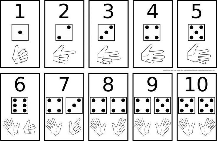Счет на пальцах с подписью